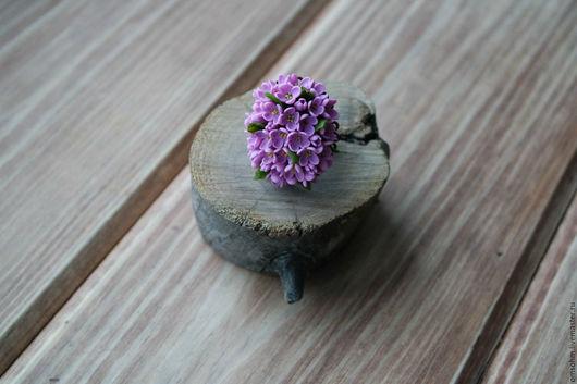 """Кольца ручной работы. Ярмарка Мастеров - ручная работа. Купить Кольцо """"Сирень"""". Handmade. Сиреневый, сирень из глины"""