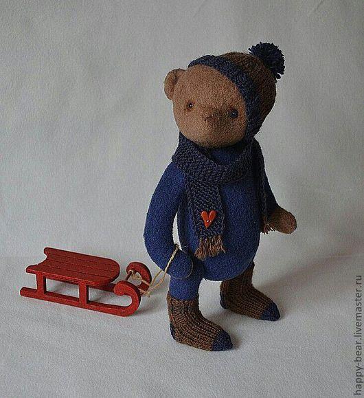 Мишки Тедди ручной работы. Ярмарка Мастеров - ручная работа. Купить my little Jack. Handmade. Тёмно-синий, мишка