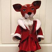 Куклы и игрушки ручной работы. Ярмарка Мастеров - ручная работа Рыжая лисичка Лизонька.Валяная игрушка.(игрушка из шерсти). Handmade.