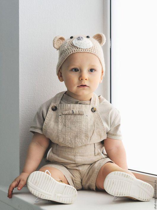 """Для новорожденных, ручной работы. Ярмарка Мастеров - ручная работа. Купить Шапочка для фотосессий """"Мишка"""". Handmade. Шапочка для фотосессии"""