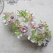Свадебный салон ручной работы. Ярмарка Мастеров - ручная работа Свадебная заколочка в розово-салатовом цвете. Handmade.