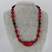 Украшения handmade. Livemaster - original item Necklace from natural stones of howlite and shungite