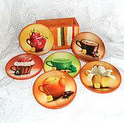 Для дома и интерьера handmade. Livemaster - original item Stand under the hot Fruit tea. Handmade.