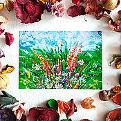 Открытки ручной работы. Ярмарка Мастеров - ручная работа Почтовая открытка с цветами. Посткроссинг открытка. Открытка почтовая.. Handmade.