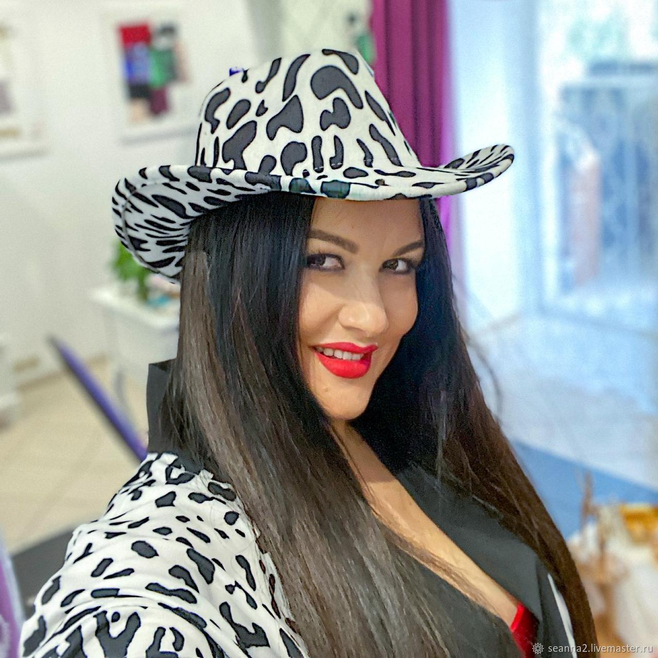Шляпка Федора Белый леопард, Шляпы, Воронеж,  Фото №1