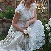 Одежда ручной работы. Ярмарка Мастеров - ручная работа Нижняя юбка белая с кружевом, оборки, бохо стиль, кантри, прованс. Handmade.