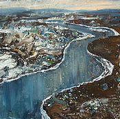 Картины и панно ручной работы. Ярмарка Мастеров - ручная работа Картина Северная река. Handmade.