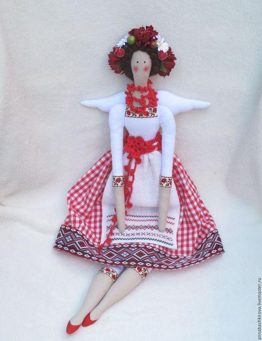 Игрушки Башкировой Анны, Оксанка, украиночка, тильда, интерьерная куколка