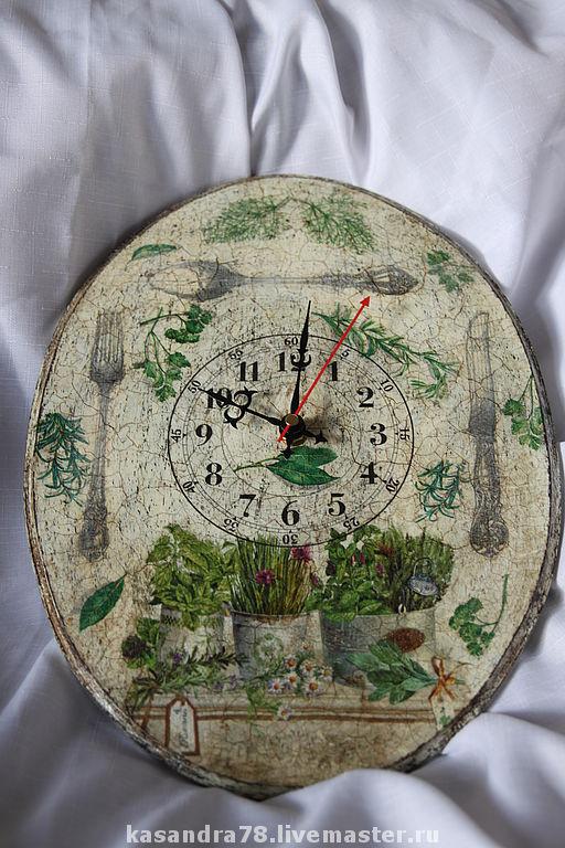 Часы для дома ручной работы. Ярмарка Мастеров - ручная работа. Купить Часы Травы прованса. Handmade. Часы в стиле прованс