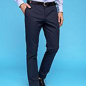 Одежда ручной работы. Ярмарка Мастеров - ручная работа Blue Cotton Pants. Handmade.