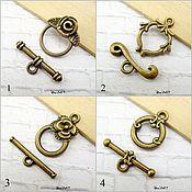 Материалы для творчества handmade. Livemaster - original item Toggle. Lock for jewelry Art.ZU02. Handmade.