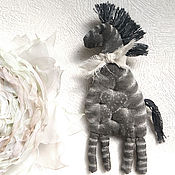 Украшения handmade. Livemaster - original item Zebra came Brooch from fabric. Handmade.