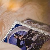"""Канцелярские товары ручной работы. Ярмарка Мастеров - ручная работа Кожаная обложка для паспорта """"Лунные феи"""". Handmade."""