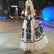 Одежда ручной работы. Ярмарка Мастеров - ручная работа Шикарное платье из итальянской сетки. Handmade.
