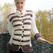"""Одежда ручной работы. Ярмарка Мастеров - ручная работа Жакет вязаный """"Шубчик"""". Handmade."""