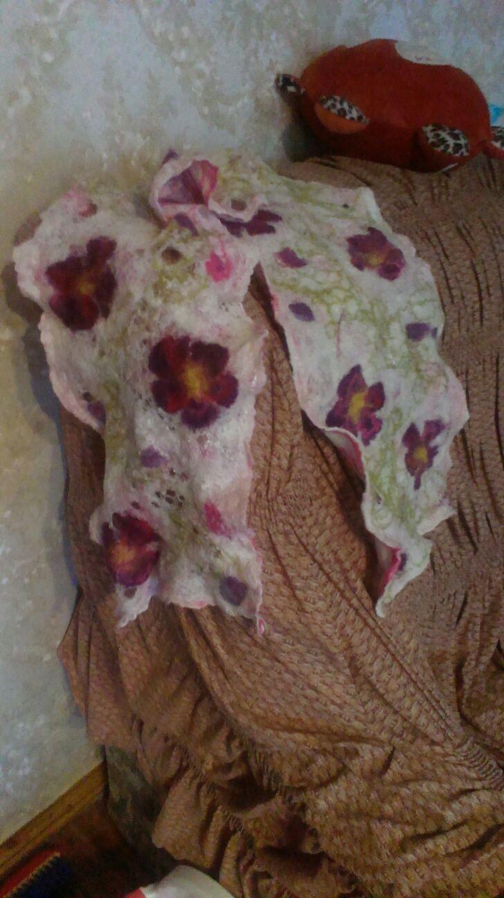 ручной работы. Ярмарка Мастеров - ручная работа. Купить Шарф паутинка. Handmade. Цветочный, шарф паутинка, мохеровая пряжа
