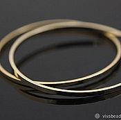 Материалы для творчества handmade. Livemaster - original item Ring connector 30 mm gold-plated th. Korea (art. 2933). Handmade.