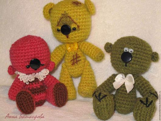 Башкирова Анна, мишка, мишка ручной работы, мишка в подарок, вязаная игрушка, амигуруми, игрушка ручной работы, интерьерная игрушка, подарок