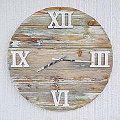 Часы классические ручной работы. Ярмарка Мастеров - ручная работа Часы настенные большие из дерева. Handmade.