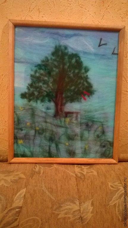 """Пейзаж ручной работы. Ярмарка Мастеров - ручная работа. Купить Картина """"Воспоминания о детстве"""". Handmade. Разноцветный, картина, пейзаж"""