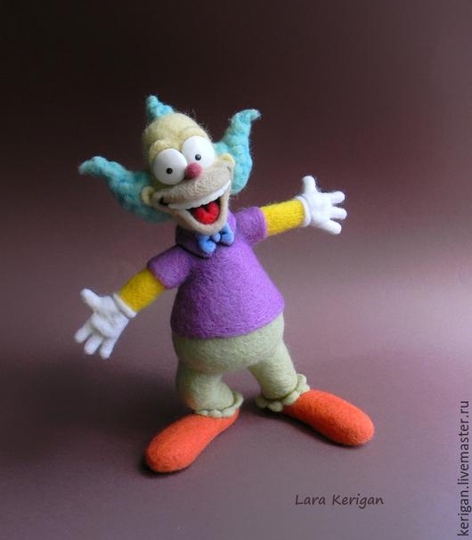 Сказочные персонажи ручной работы. Ярмарка Мастеров - ручная работа. Купить Клоун Красти. Handmade. Разноцветный, мультгерой