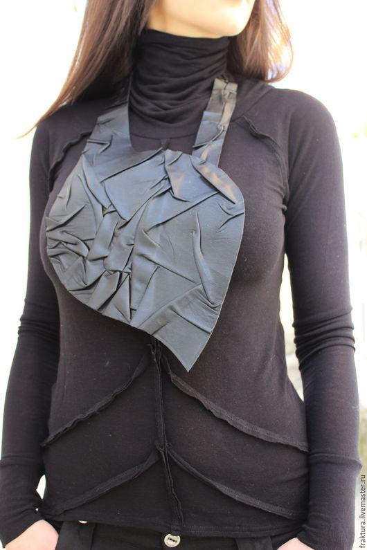 """Колье, бусы ручной работы. Ярмарка Мастеров - ручная работа. Купить Колье """"Leather Feather"""" N0012. Handmade. Колье длинное"""
