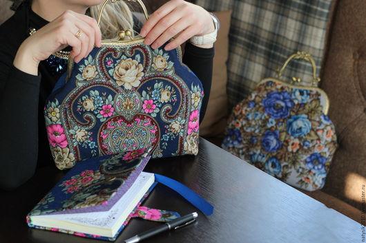 """Женские сумки ручной работы. Ярмарка Мастеров - ручная работа. Купить Комплект из сумочки и блокнота """"Рококо"""". Handmade. Комбинированный, сумка"""