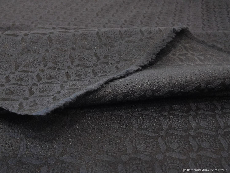 Жаккард костюмно-плательный черный, Ткани, Санкт-Петербург,  Фото №1