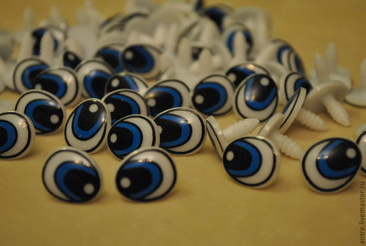 Куклы и игрушки ручной работы. Ярмарка Мастеров - ручная работа. Купить Глаза винтовые овальные (2 цвета). Handmade. Глаза