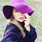 Аксессуары ручной работы. Ярмарка Мастеров - ручная работа Широкополая шляпа. Handmade.