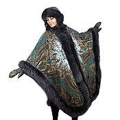 Одежда handmade. Livemaster - original item A beautiful poncho made of a Governor`s scarf with a fox. Handmade.