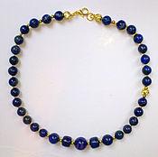 Украшения handmade. Livemaster - original item Necklace Prussian blue natural lapis lazuli gold plated 14KT. Handmade.
