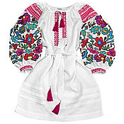 "Одежда handmade. Livemaster - original item Dress with embroidery ""Flower Nymph"". Handmade."