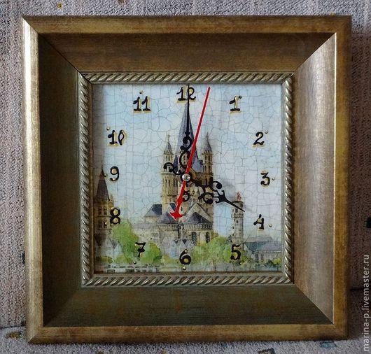 """Часы для дома ручной работы. Ярмарка Мастеров - ручная работа. Купить Часы """"Кёльн"""". Handmade. Часы, часы интерьерные, оргалит"""