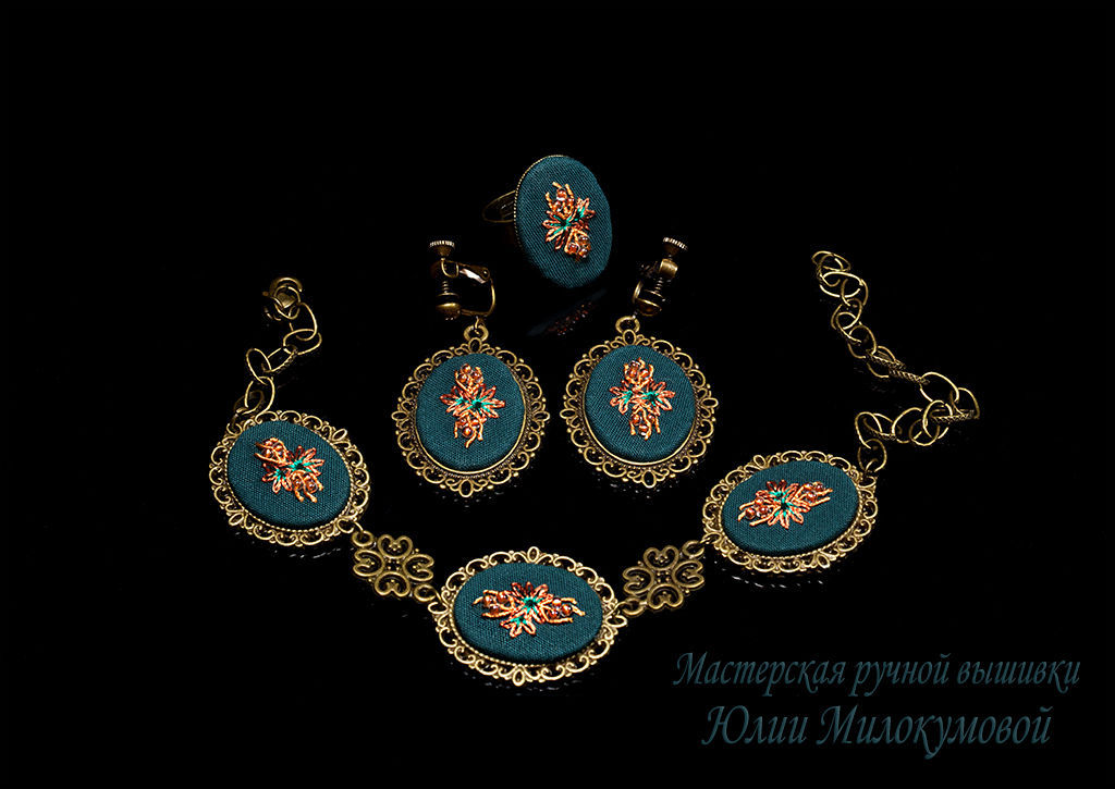 Embroidered complete Artemis, Jewelry Sets, Moscow,  Фото №1