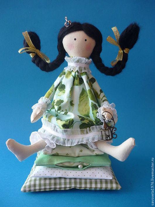 Куклы Тильды ручной работы. Ярмарка Мастеров - ручная работа. Купить Принцесса на горошине. Handmade. Зеленый, Принцесса на горошине