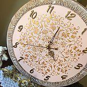 Для дома и интерьера ручной работы. Ярмарка Мастеров - ручная работа Часы настенные Розовый зефир. Handmade.