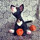 Игрушки животные, ручной работы. Котик Томас. Евгения. Интернет-магазин Ярмарка Мастеров. Котик игрушка, 100% шерсть