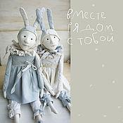 Куклы и игрушки ручной работы. Ярмарка Мастеров - ручная работа зимние кролики - единороги. Handmade.