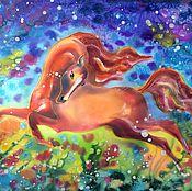 Картины и панно ручной работы. Ярмарка Мастеров - ручная работа Волшебная лошадка!!!. Handmade.