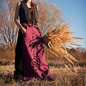 Одежда ручной работы. Ярмарка Мастеров - ручная работа Юбка льняная Spirals. Handmade.