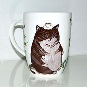 Посуда ручной работы. Ярмарка Мастеров - ручная работа Фарфоровая чашка Кофейный кот. Handmade.