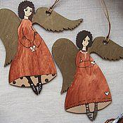 Подарки к праздникам ручной работы. Ярмарка Мастеров - ручная работа Ангелы в красных нарядах. Handmade.