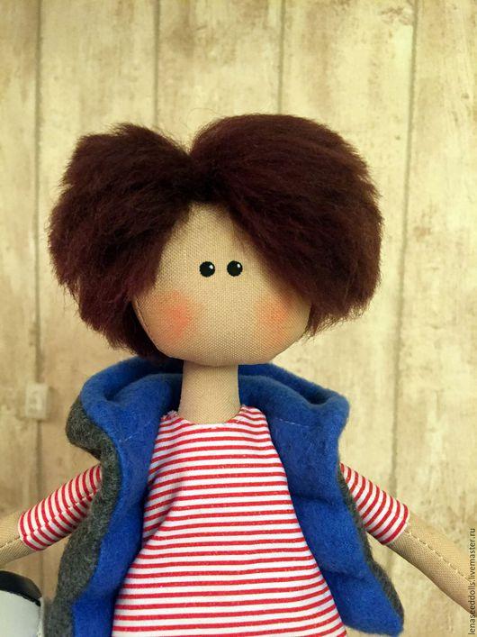 Коллекционные куклы ручной работы. Ярмарка Мастеров - ручная работа. Купить - Ромка -. Handmade. Синий, игрушка в подарок