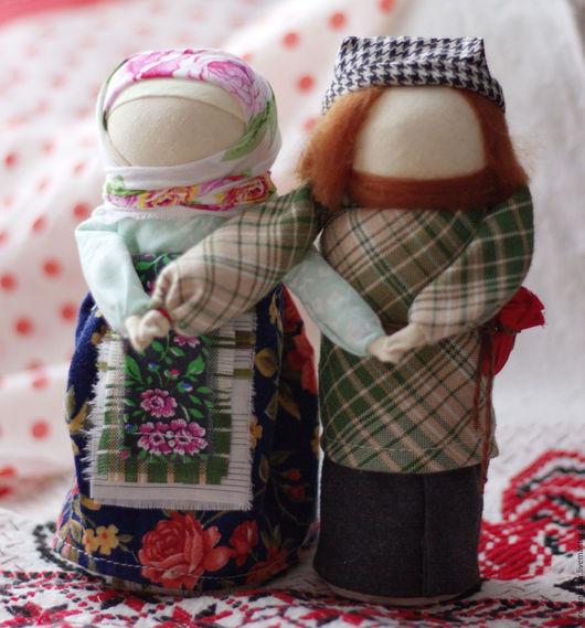 Народные куклы ручной работы. Ярмарка Мастеров - ручная работа. Купить народная кукла-оберег Неразлучники. Handmade. Комбинированный