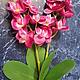 Материалы для флористики ручной работы. Букет орхидей 30 см. Мастерская Чудес. Ярмарка Мастеров. Орхидея из ткани, искусственные цветы