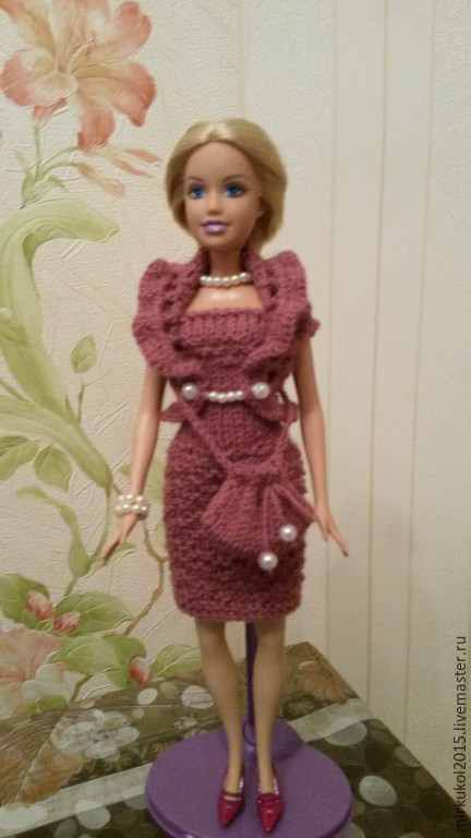 Одежда для кукол ручной работы. Ярмарка Мастеров - ручная работа. Купить Вязаный комплект для Барби. Handmade. Одежда для кукол
