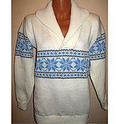 Одежда handmade. Livemaster - original item Women`s sweater with the collar of the season. Handmade.