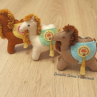 Куклы и игрушки ручной работы. Ярмарка Мастеров - ручная работа Верблюды из фетра. Handmade.