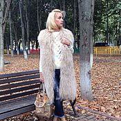 """Одежда ручной работы. Ярмарка Мастеров - ручная работа Жилет из ламы """" Жемчужный """". Handmade."""